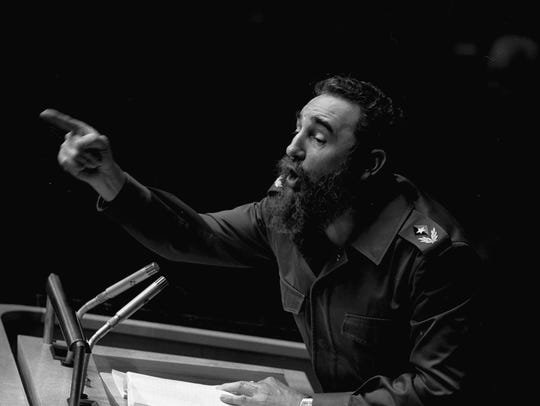 FILE - In this Oct. 12, 1979 file photo, Cuban President,