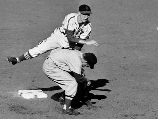 FILE - In this October 1946 file photo, St. Louis Cardinals