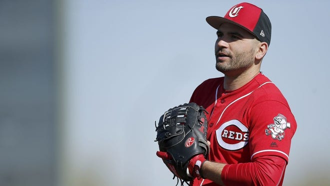 Joey Votto hit 36 home runs and led the NL in walks, OPS (1.032) and OPS-plus (168) in 2017