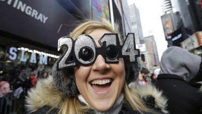 New Yorkers will bid farewell to 2014 with chilly but clear weather.