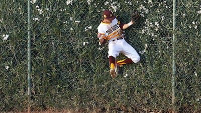 Johnny Sewald still has some work to do in preseason practices to hold onto to the ASU center field job.