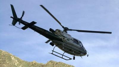 A Riverside County Sheriff's Department helicopter was called in to help Palm Springs Mounted Search and Rescue bring two lost hikers down from a trail behind the O'Donnell Golf Course Thursday night, Oct. 27.