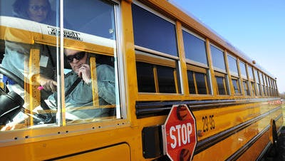 Seeing buses? Don't fret - school isn't back in session. Drivers are trying to learn their routes.