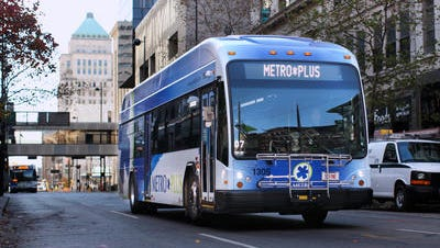 In 2012, Metro launched its limited-stop Metro*Plus route, the transit authority's fastest service ever.