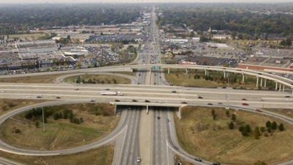 Shelbyville Road at I-264: The Watterson Expressway are seen from the air, looking to the west.