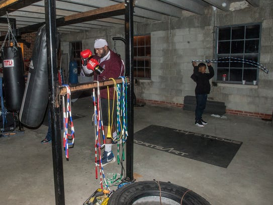 Boxers work out on Monday, Jan. 8, 2018, at Faith Boxing