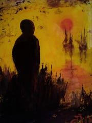 """""""Melancholy Sun"""" is currently hanging in Jefferson"""