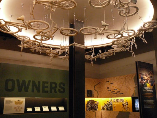 One of nine Packers Hall of Fame galleries is devoted