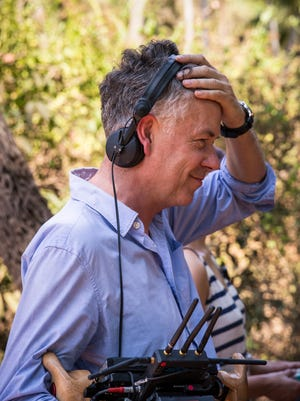 """Michael Winterbottom, on the set of """"The Trip to Greece."""""""