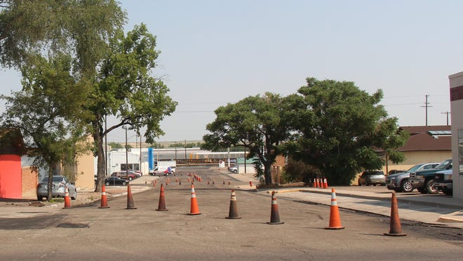 The road work on Raton between First and Third should be completed this week.