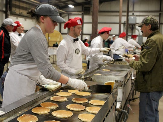 Thousands of pancakes are made during the University