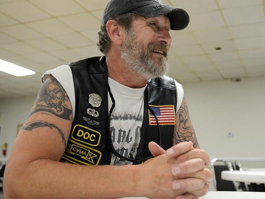 Richard 'Doc' Burroughs speaks Thursday with the Sun at VFW Post 1848.
