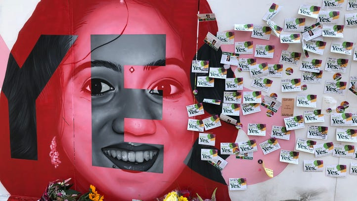 A mural of Savita Halappanavar, who died in Ireland