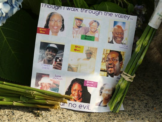 A note on the sidewalk includes photos of the nine