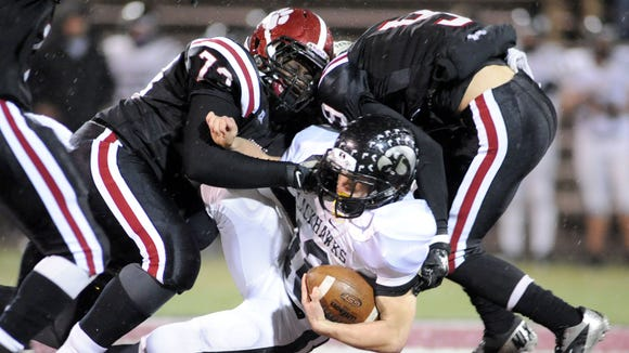 Asheville High's Bobby Lordman makes a tackle in Friday's 46-0 win over visiting North Buncombe.