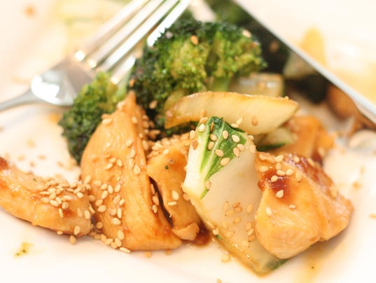 Ginger Chicken Stir Fry with Bok Choy and Broccoli