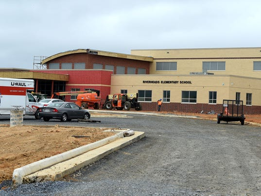 Touring new Riverheads Elementary