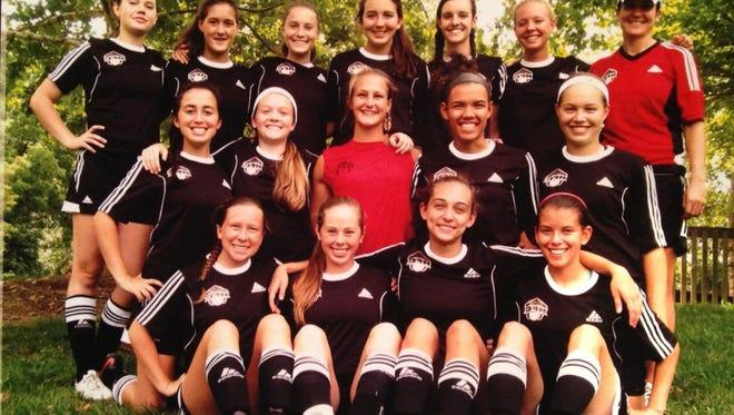 The 97 Highland Football Club Red G girls team.