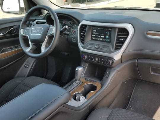 The 2018 GMC Acadia's interior offers good ergonomics
