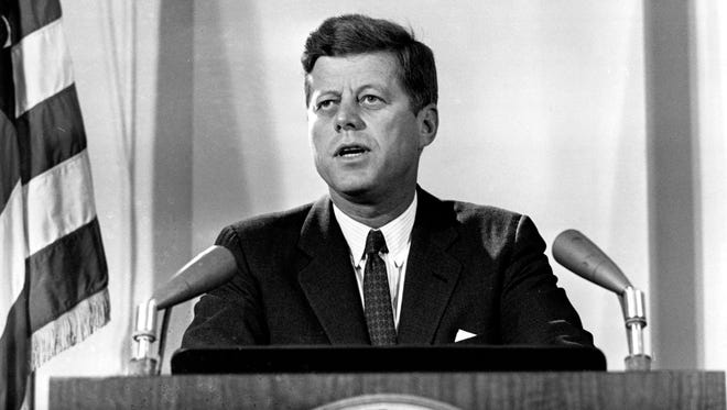 President John F. Kennedy reports to the nation on the status of the Cuban Missile Crisis on Nov. 2, 1962.