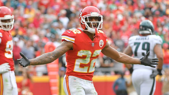 Marcus Peters was so incensed at a holding call in the closing minutes against the N.Y. Jets, the Kansas City cornerback threw an official's flag into the stands and walked off the field.