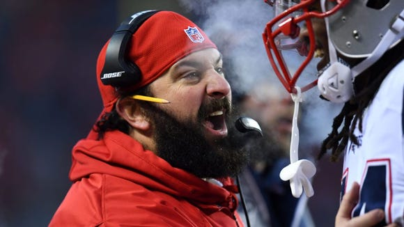 Matt Patricia trimmed his trademark epic beard for his Lions introduction