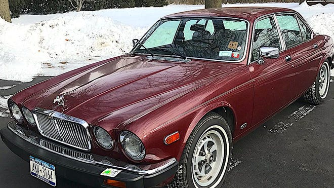 Marylou's fly ride, an XJ6 Jaguar, will be auctioned. []Photo courtesy John Hendrickson