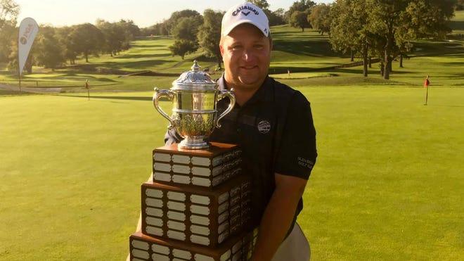 High school math teacher Alex Knoll after winning the 2019 Philadelphia PGA Professional Championship.