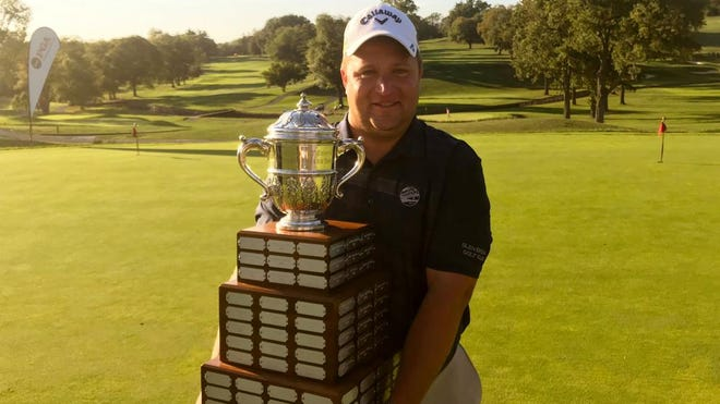 High school math teacher Alex Knoll after winning the 2019 Philadelphia PGA Professional Championship.