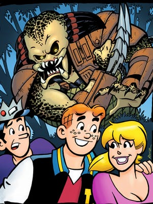 "Those friendly kids from Riverdale are hunted in the jungle while on spring break in ""Archie Meets Predator."""