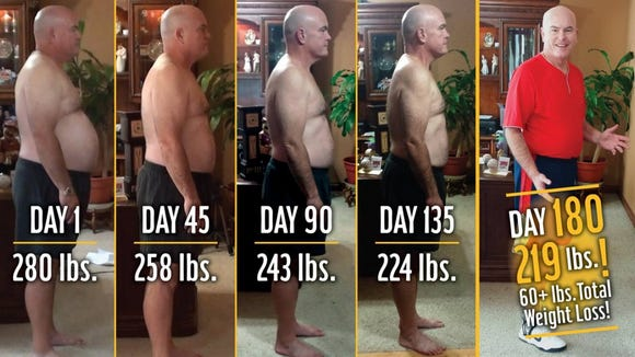 John Cisna lost 60 pounds eating nothing but McDonald's for six months and adding exercise to his daily routine.
