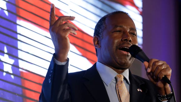 Republican presidential candidate Ben Carson, shown at a campaign event in Iowa, has raised more money from Indiana than the other GOP candidates.