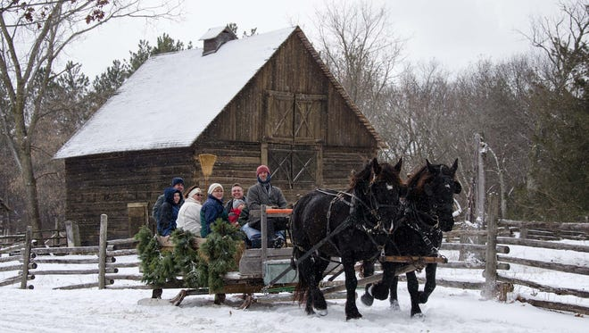 Snow permitting, Old World Wisconsin will offer horse-drawn bobsled rides during its An Old World Christmas event.