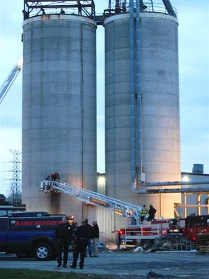 Washington County EMA Director Nes Levotch confirmed one person was killed Saturday afternoon when a silo he was working inside collapsed. Levotch said first responders are currently working to recover the body. The person's identification is not yet known. (Zach Vance / Jahnson City Press)