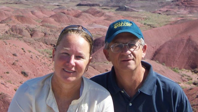 Susan and William Schmeirer were on their way to Palm Springs when their abandoned vehicle was discovered in Amboy. Investigators found a body believed to be William Schmeirer and they're still searching for his wife.