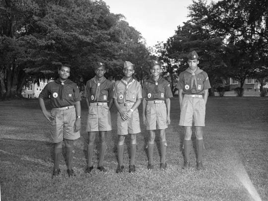Steve Beasley, shown in 1957, as an Eagle Scout.