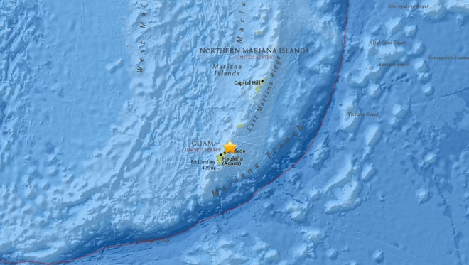 A 4.2 magnitude earthquake hit Guam around 12:48 a.m. Aug. 21.