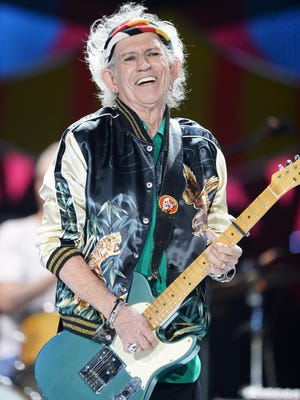 Keith Richards performs on stage during The Rolling Stones concert at Ciudad Deportiva on March 25, 2016 in Havana, Cuba.