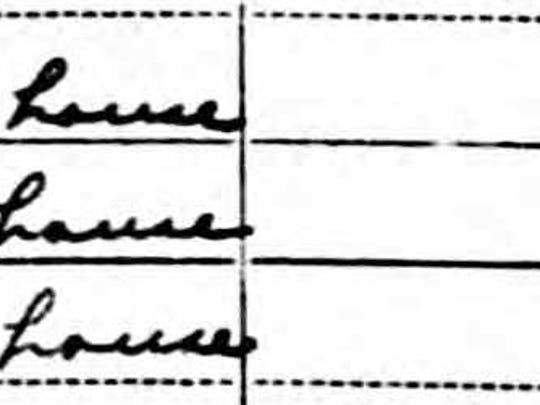 Listing of Dr. Arthur Junge in 1940 Reedsville census.