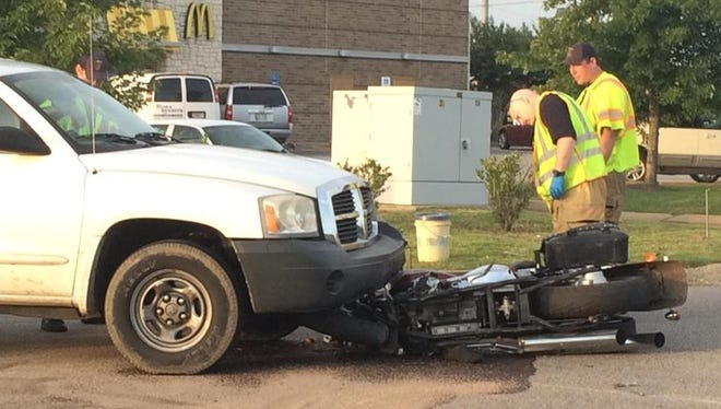 Collision at Sonic on Chloe Place Friday in Jackson.