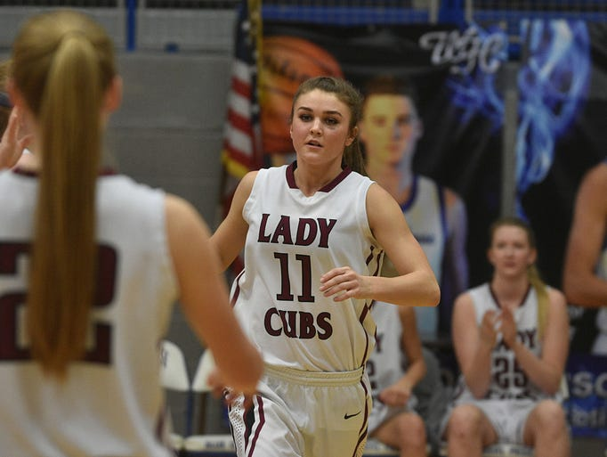 Cheatham County's Josie Bumpus is announced prior to