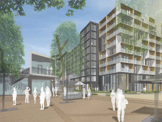 A view of the Outpost Nashville project planned for