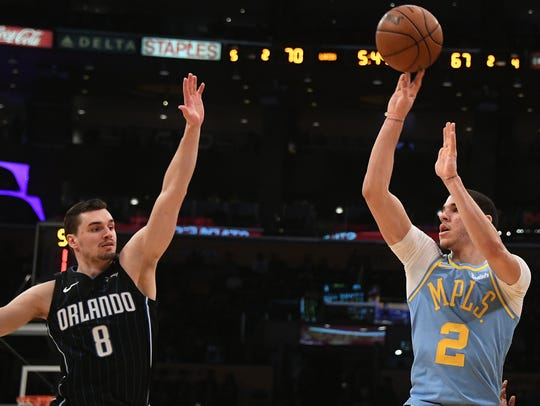 Lonzo Ball's field goal percentage has improved from