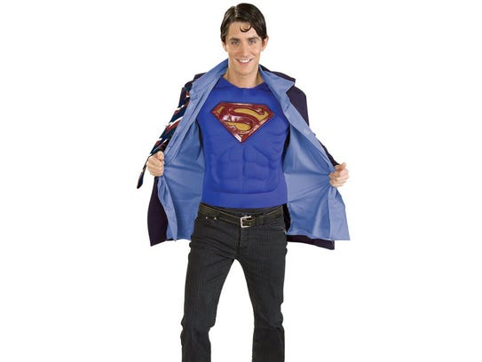 This Superman-Clark Kent reversible costume was sold