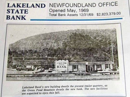 Lakeland Bank opened its first branch in 1969 as seen in this undated file photo.