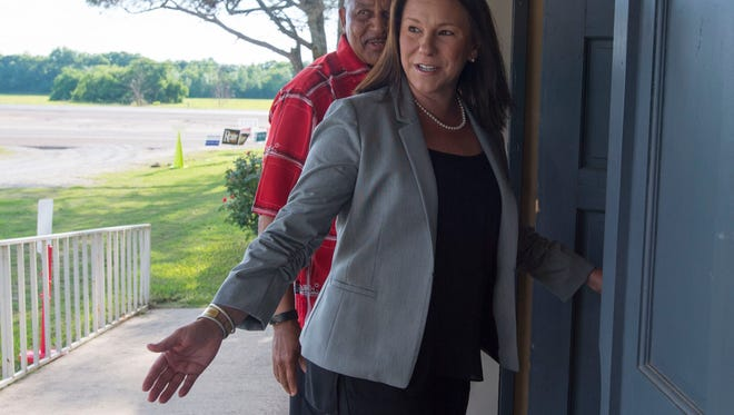 U.S. Rep. Martha Roby arrives to vote in the primary election Tuesday, June 5, 2018, at Snowdoun Women's Club in Montgomery, Ala. (Julie Bennett/Montgomery Advertiser)