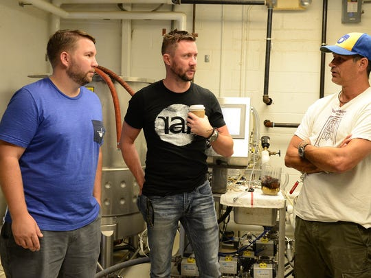 Dogfish head's Sam Calagione along with RAR's Randy Mills, Chris Brohawn and discuss how the collaboration for a new brew started on Thursday, Sept 7, 2017.