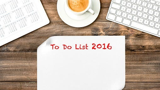 The to-do list 2016.
