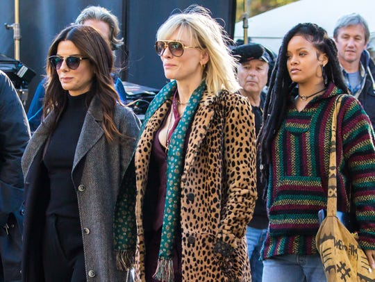 Sandra Bullock, Cate Blanchett and Rihanna are seen