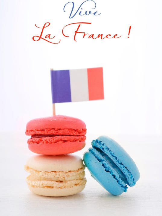 Bastille Day Party Macarons